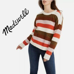 Madewell patch pocket striped sweater